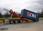 Containertransport mit Waagrecht-Chassis